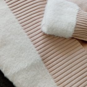 2020 Autumn Winter Cashmere Basic Warm Sweater Velvet Pullovers photo review